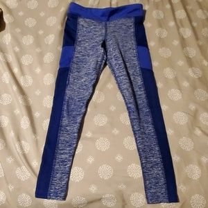 Girls blue active leggings